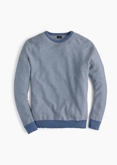 J.Crew Cotton crewneck sweater in striped garter stitch