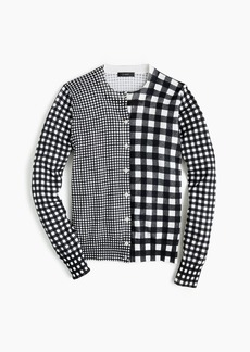 J.Crew Cotton Jackie cardigan in gingham