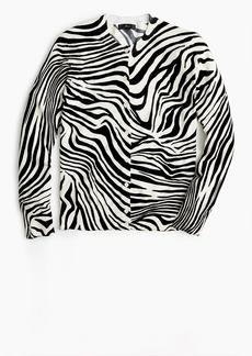 J.Crew Cotton Jackie cardigan sweater in zebra