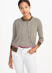 J.Crew Cotton Jackie cardigan sweater with neon tipping