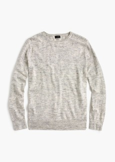 J.Crew Cotton-linen heather crewneck sweater