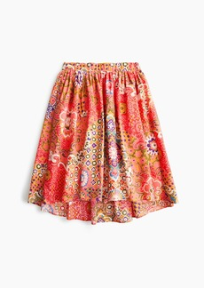 J.Crew Cotton pleat-front skirt in paisley print
