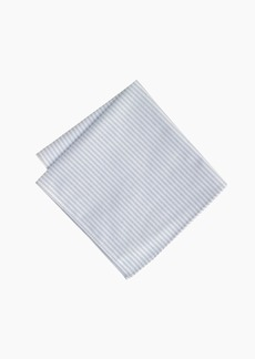 J.Crew Cotton pocket square in rustic stripe