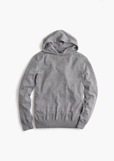 J.Crew Cotton pullover hoodie in grey