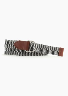 J.Crew Cotton stripe belt
