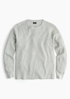 J.Crew Cotton thermal knit crewneck sweater