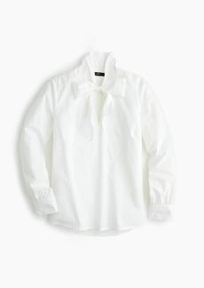 J.Crew Cotton tie-neck top