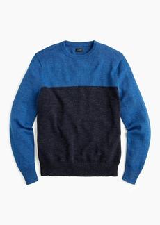 J.Crew Cotton-wool colorblock crewneck sweater