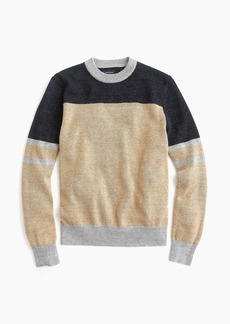 J.Crew Cotton-wool crewneck sweater in colorblock