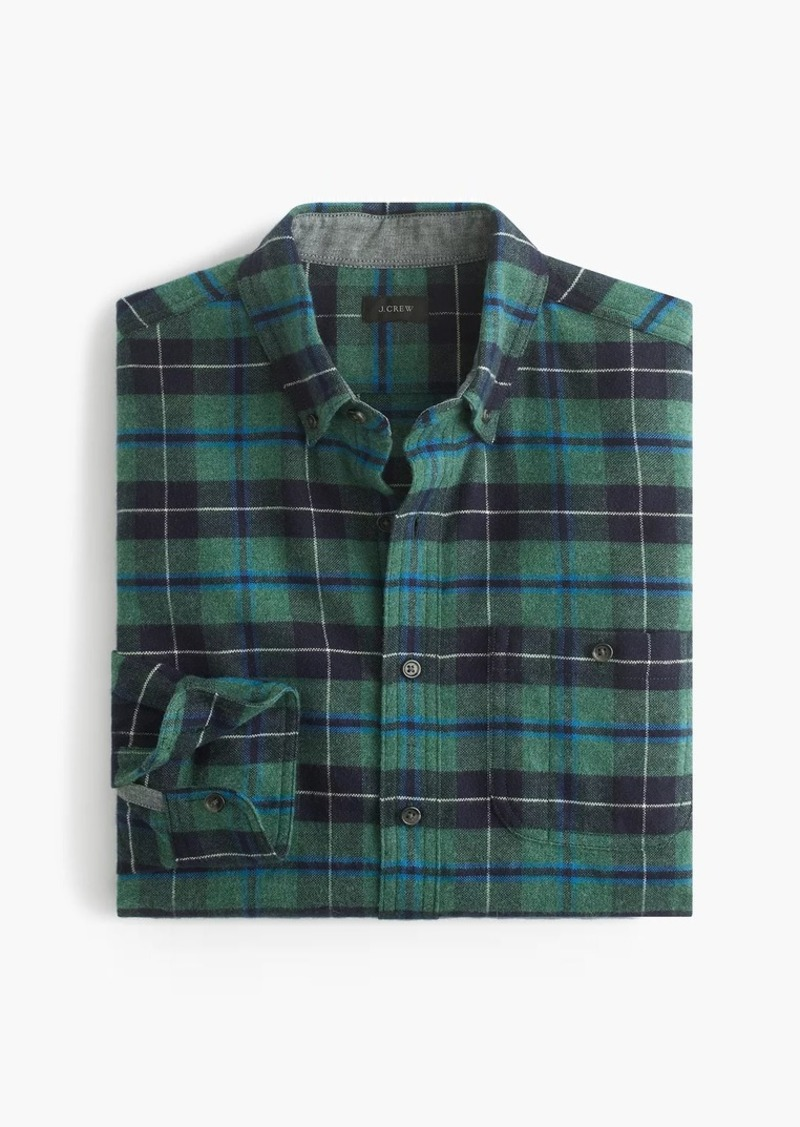 J.Crew Cotton-wool elbow-patch shirt in Clark plaid