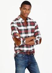 J.Crew Cotton-wool elbow-patch shirt in Stewart plaid