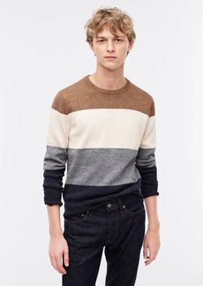 J.Crew Cotton-wool stripe crewneck sweater