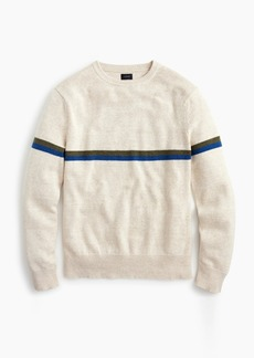 J.Crew Cotton-wool thin chest stripe crewneck sweater