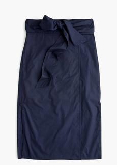 J.Crew Cotton wrap pencil skirt
