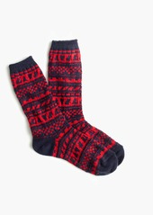 J.Crew Cozy trouser socks in Fair Isle