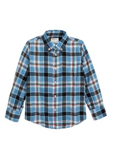 crewcuts by J.Crew Blue Herringbone Plaid Button-Down Shirt (Toddler Boys, Little Boys & Big Boys)