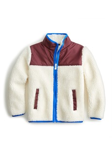 Crewcuts By J.Crew Boys' Colorblocked Sherpa Jacket