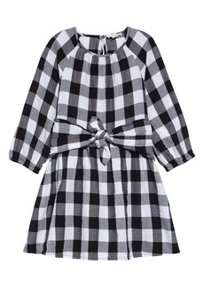 crewcuts by J.Crew Buffalo Check Flannel Tie Waist Dress (Toddler Girls, Little Girls & Big Girls)