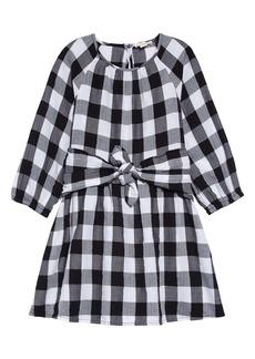 crewcuts by J.Crew Buffalo Check Flannel Tie Waist Dress (Toddler Girls, Little Girls & Big Girls)