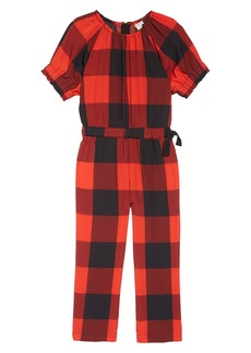crewcuts by J.Crew Buffalo Check Jumpsuit (Toddler Girls, Little Girls & Big Girls)