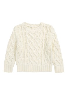 crewcuts by J.Crew Cable Knit Sweater (Toddler Boys, Little Boys & Big Boys)