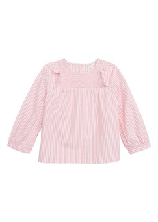 crewcuts by J.Crew Candy Stripe Smocked Top (Toddler Girls, Big Girls & Little Girls)