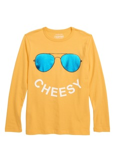 crewcuts by J.Crew Cheesy Long Sleeve T-Shirt (Toddler Boys, Little Boys & Big Boys)