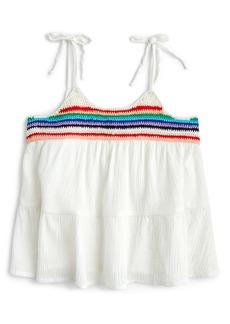 crewcuts by J.Crew Crochet Trim Tank (Toddler Girls, Little Girls & Big Girls)