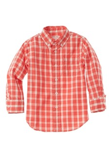 Crewcuts By J.Crew Earls Ging Stretch Poplin Shirt