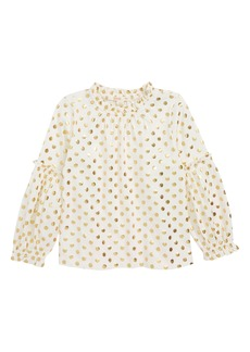 crewcuts by J.Crew Elaine Bubble Sleeve Top (Toddler Girls, Little Girls & Big Girls)