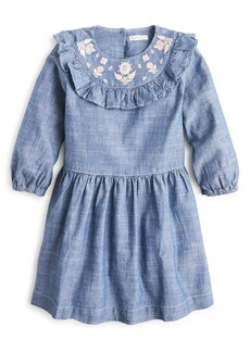 crewcuts by J.Crew Embroidered Chambray Dress (Toddler Girls, Little Girls & Big Girls)
