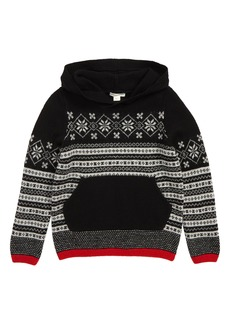 crewcuts by J.Crew Fair Isle Hooded Sweater (Toddler Boys, Little Boys & Big Boys)