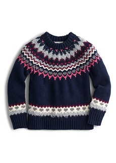 crewcuts by J.Crew Fair Isle Sweater (Toddler Girls, Little Girls & Big Girls)