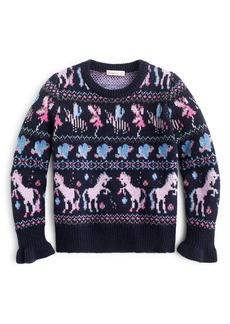crewcuts by J.Crew Fairy Isle Crewneck Sweater (Toddler Girls, Little Girls & Big Girls)