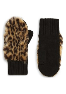 crewcuts by J.Crew Faux Fur Front Mittens (Toddler Girls, Little Girls & Big Girls)