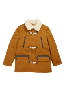 crewcuts by J.Crew Faux Shearling Lined Toggle Coat (Toddler Boys, Little Boys & Big Boys)