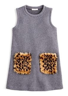 crewcuts by J.Crew Furry Pocket Dress (Toddler Girls, Little Girls & Big Girls)
