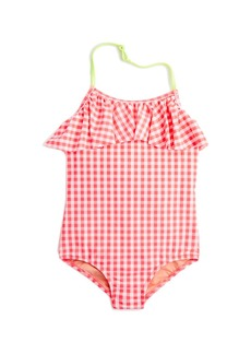 Crewcuts By J.Crew Girls' Ruffle One-Piece Swimsuit In Gingham