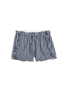 Crewcuts By J.Crew  Girls' Ruffle Pul-On Short In Stripes