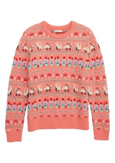 crewcuts by J.Crew Gnome Fair Isle Sweater (Toddler Girls, Little Girls & Big Girls)