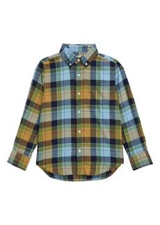 crewcuts by J.Crew Golden Plaid Lightweight Flannel Shirt (Toddler Boys, Little Boys & Big Boys)