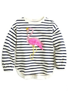 Crewcuts By J.Crew Grace Flamingo Sweatshirt