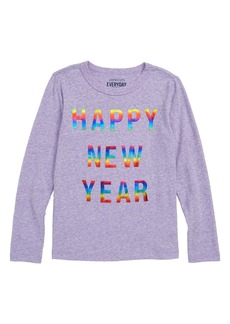 crewcuts by J.Crew Happy New Year Tee (Toddler Girls, Little Girls & Big Girls)