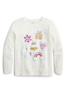 crewcuts by J.Crew Holiday Favorites Long Sleeve Tee (Little Girls & Big Girls)