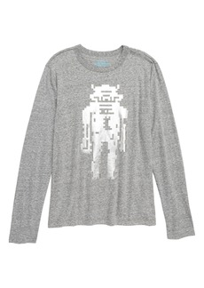 crewcuts by J.Crew Long Sleeve Robot T-Shirt (Toddler Boys, Little Boys & Big Boys)
