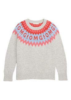 crewcuts by J.Crew OMG Fair Isle Sweater (Toddler Girls, Little Girls & Big Girls)