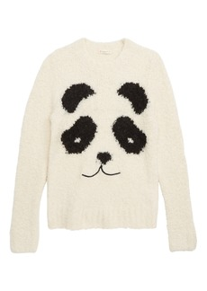 crewcuts by J.Crew Panda Sweater (Toddler Girls, Little Girls & Big Girls)