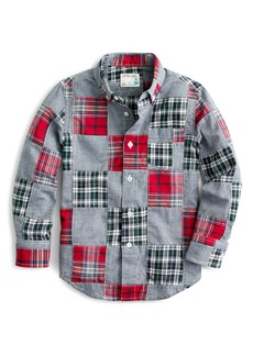 crewcuts by J.Crew Patchwork Plaid & Chambray Shirt (Toddler Boys, Little Boys & Big Boys)