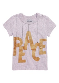 crewcuts by J.Crew Peace Tee (Toddler Girls, Little Girls & Big Girls)