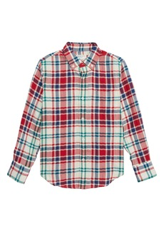 crewcuts by J.Crew Plaid Crinkle Shirt (Toddler Boys, Little Boys & Big Boys)